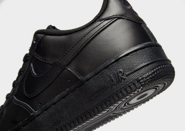 Nike Air Force 1 Low All Black on Black Authentic Big Kids