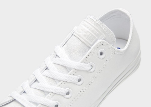 Acherter Blanc Converse Baskets en cuir All Star Leather Ox ...