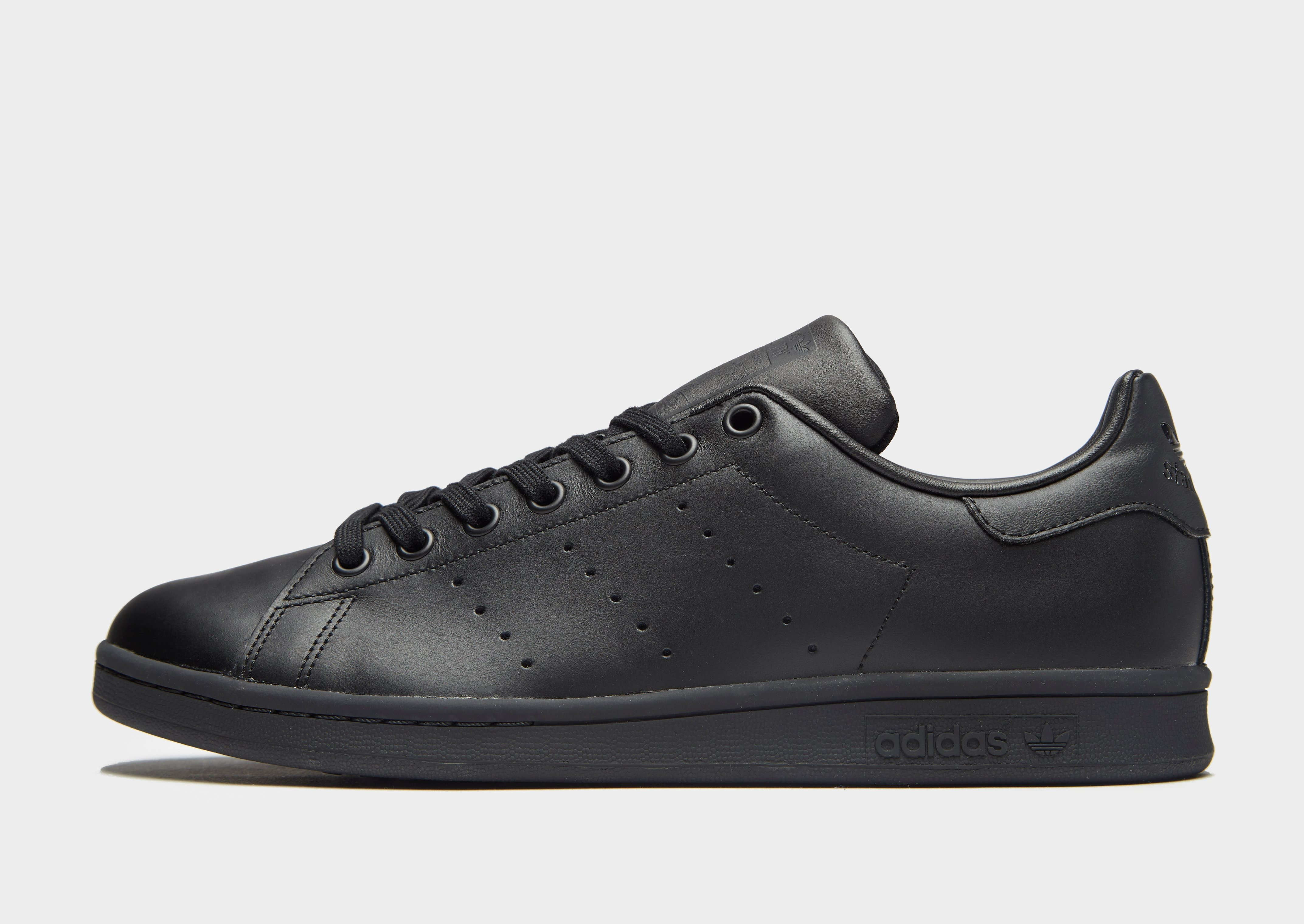 adidas originals stan smith leather trainers in sort