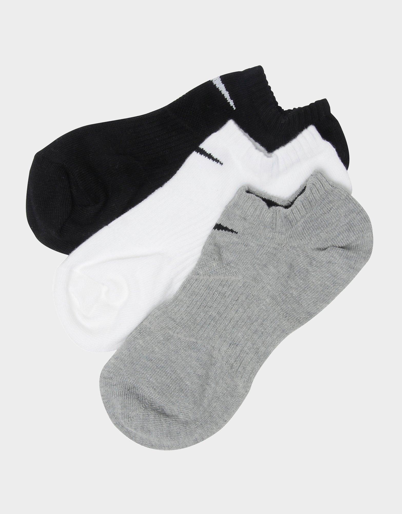 Køb Nike 3 pak korte sokker i Hvid | JD Sports