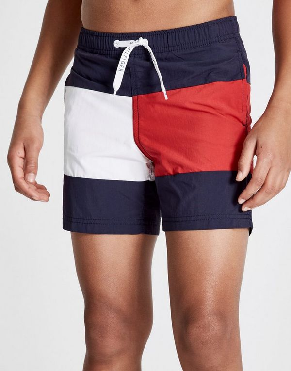 a650b40611cb8 Tommy Hilfiger Large Flag Swim Shorts Junior | JD Sports