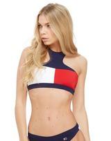 Tommy Hilfiger Flag Halter Logo Bikini Top