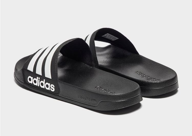 Koop Black adidas Cloudfoam Adilette Slides Heren