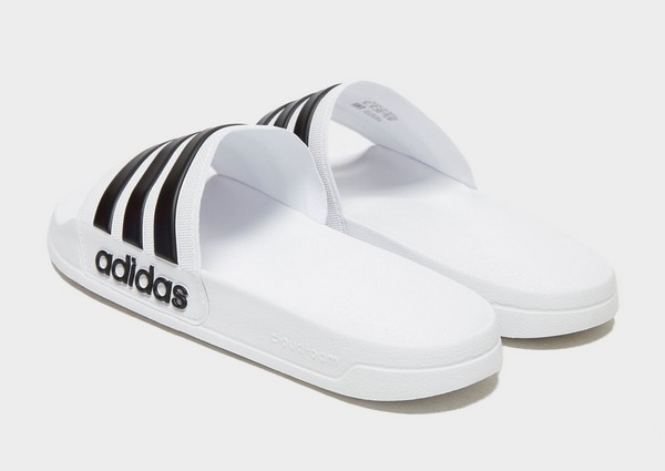 Koop Wit adidas Cloudfoam Adilette Slides Heren | JD Sports