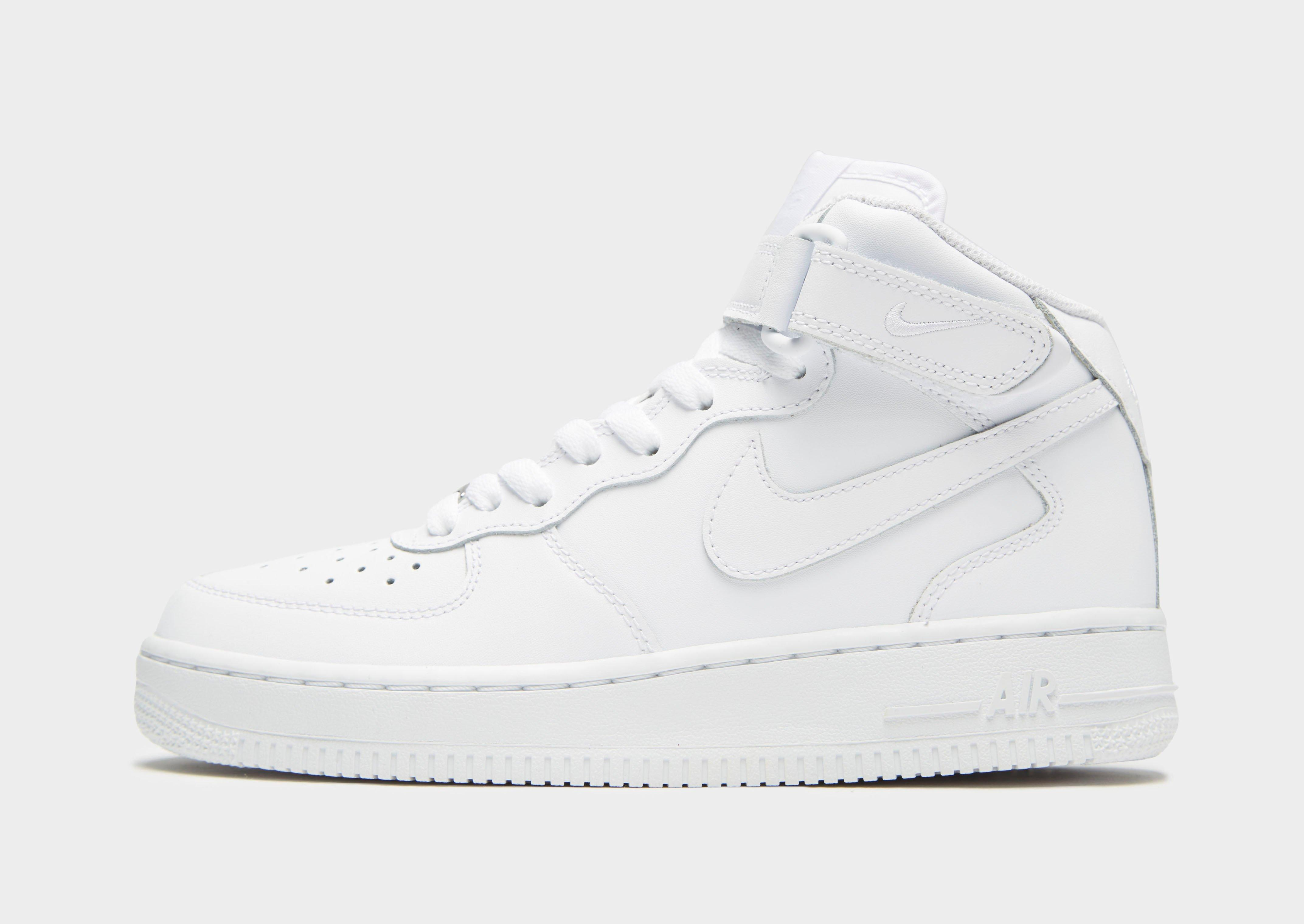 black and white high top air force ones