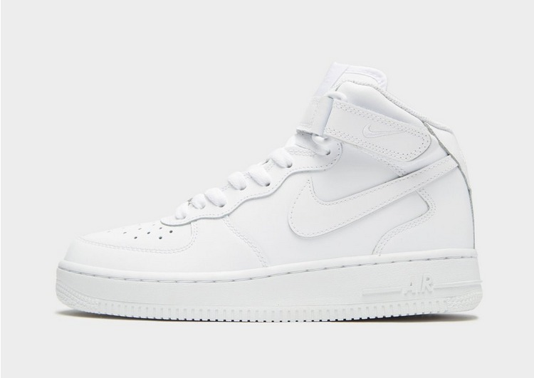 Buy White Nike Air Force 1 Mid Junior | JD Sports