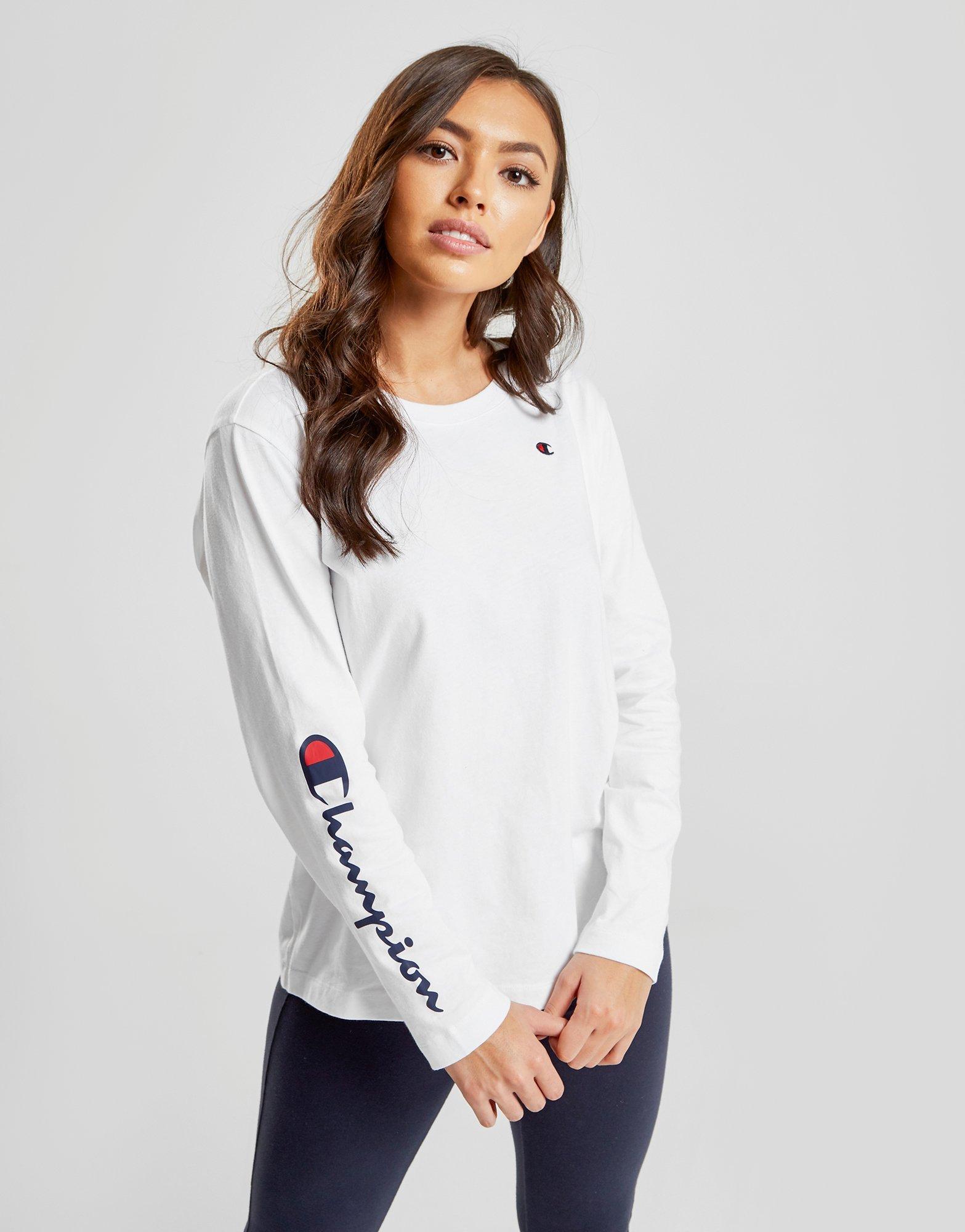 001d054be Champion Script Sleeve Long Sleeve T-Shirt | JD Sports