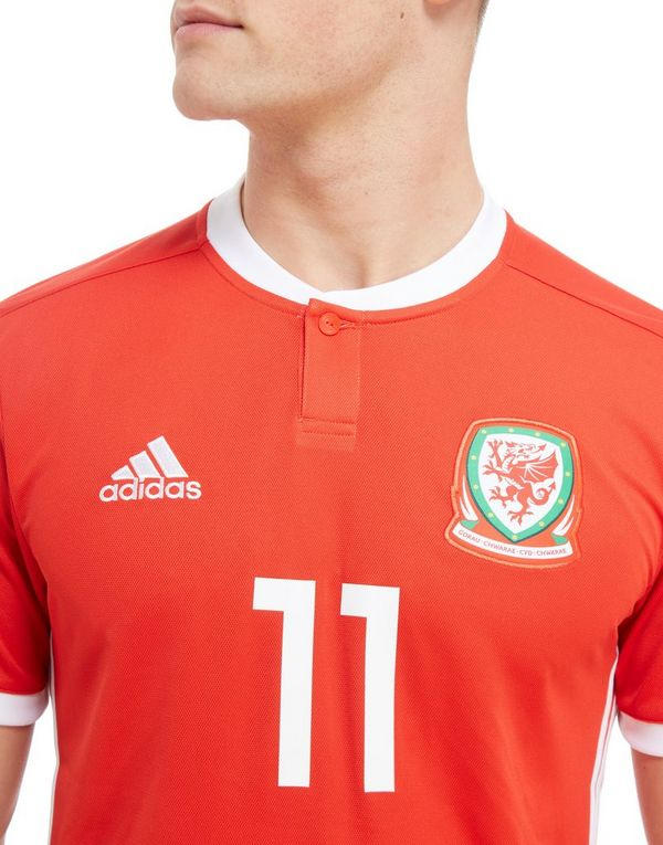 5291c6c1294 adidas Wales 2018 Home #11 Bale Shirt   JD Sports