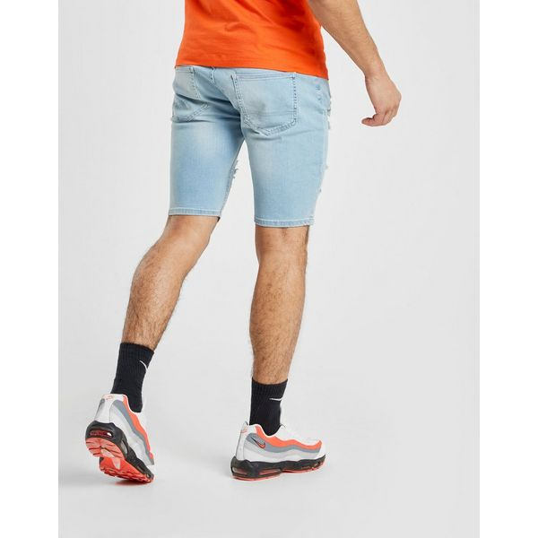 SikSilk pantalón corto Mid Denim