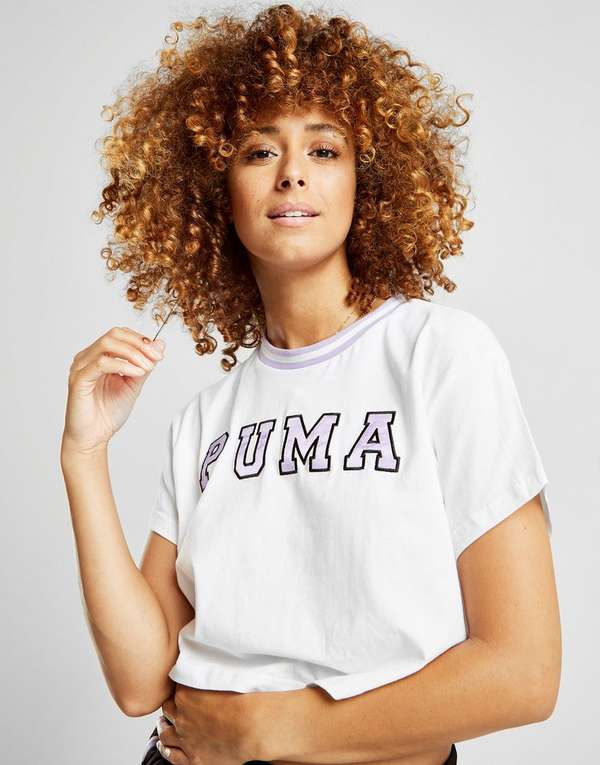 Puma Tip Crop Logo T-Shirt