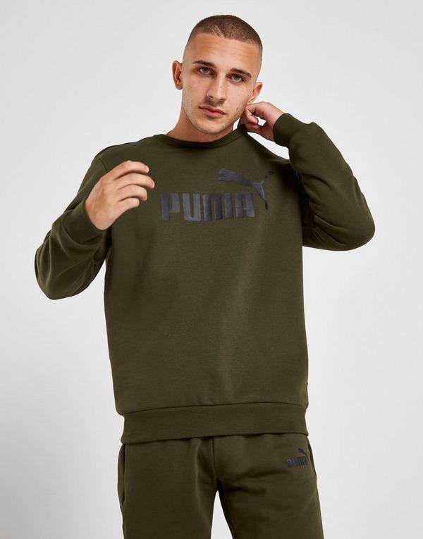 Koop Groen PUMA Core Logo Crew Sweatshirt Heren   JD Sports