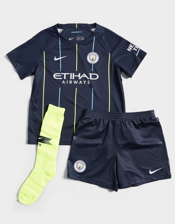 7b3d5b7d4dd NIKE 2018 19 Manchester City FC Stadium Away Younger Kids  Football Kit