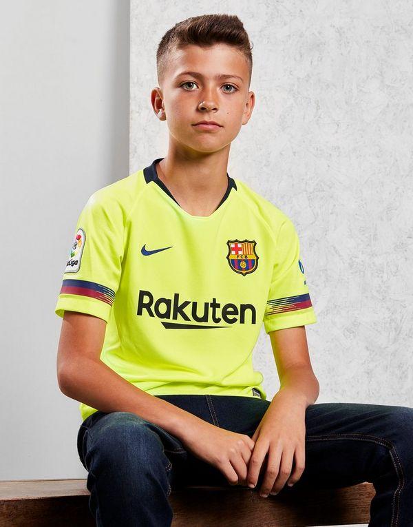 01f7df4e1 NIKE 2018 19 FC Barcelona Stadium Away Older Kids  Football Shirt ...