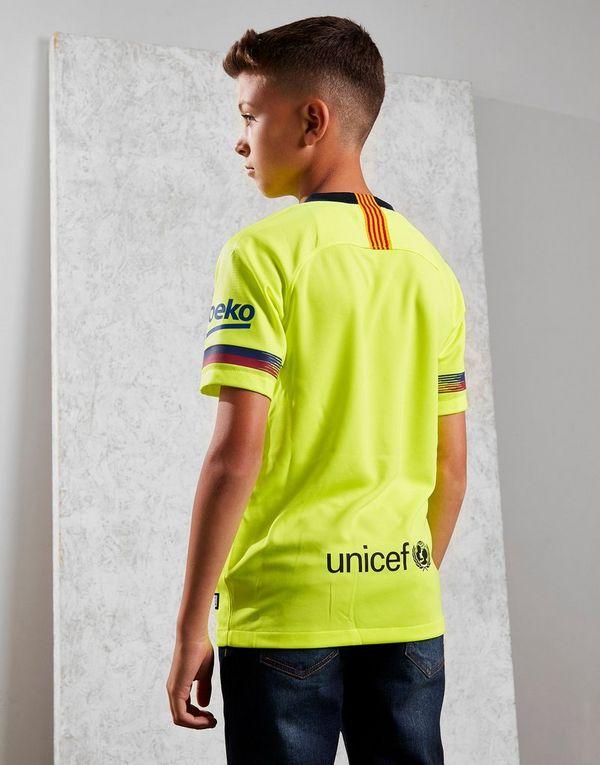 64bc8b94e ... NIKE 2018 19 FC Barcelona Stadium Away Older Kids  Football Shirt ...