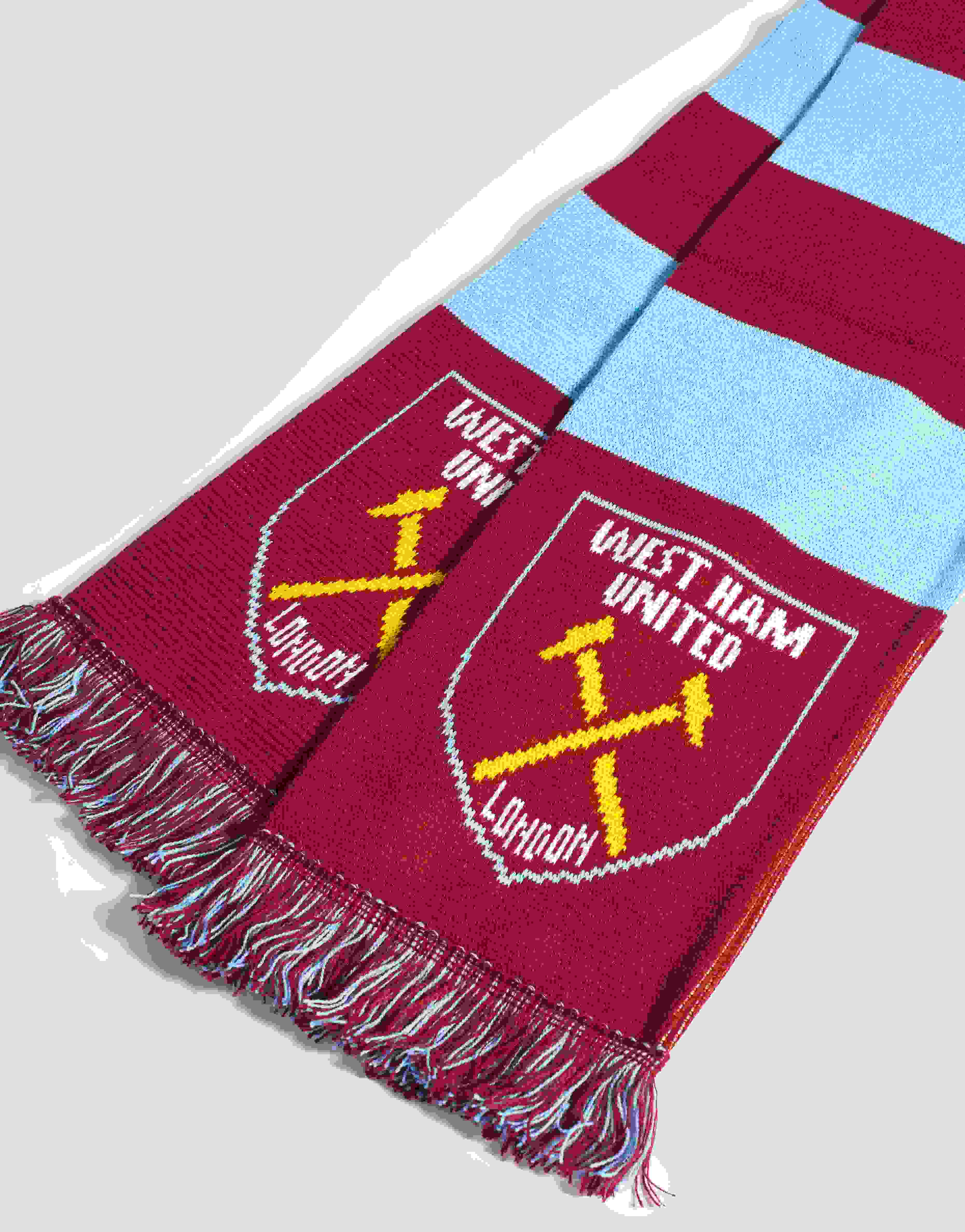 West Ham United FC Official Knitted Football Crest Scarf SG6221