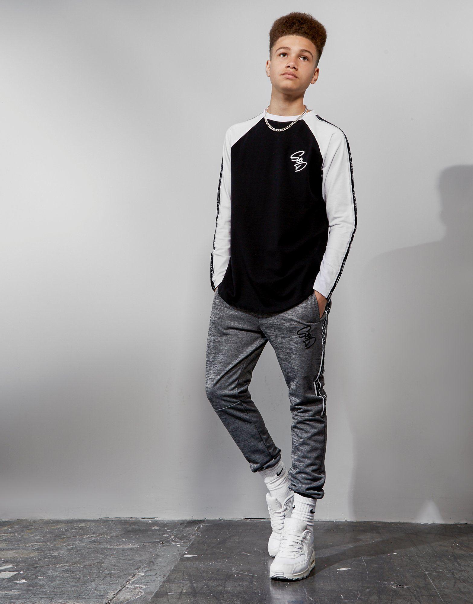 Supply & Demand Long Sleeve Tape Raglan T-Shirt Junior