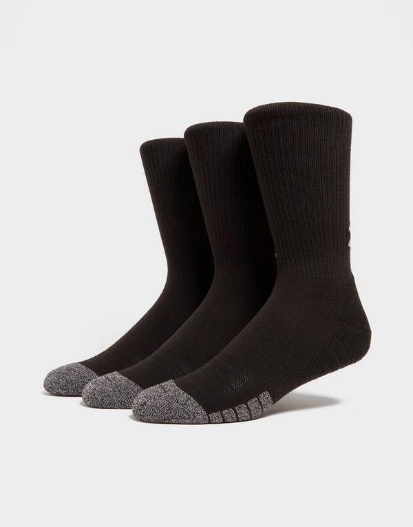 07e838307eb Under Armour 3 Pack HeatGear Tech Crew Socks   JD Sports