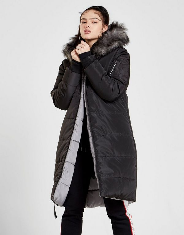 9bbfa3c3880b Supply & Demand Fur Reversible Longline Parka Jacket | JD Sports