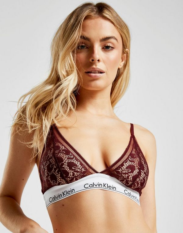 e997e5fbbb5cab Calvin Klein Underwear Modern Cotton Triangle Lace Bra