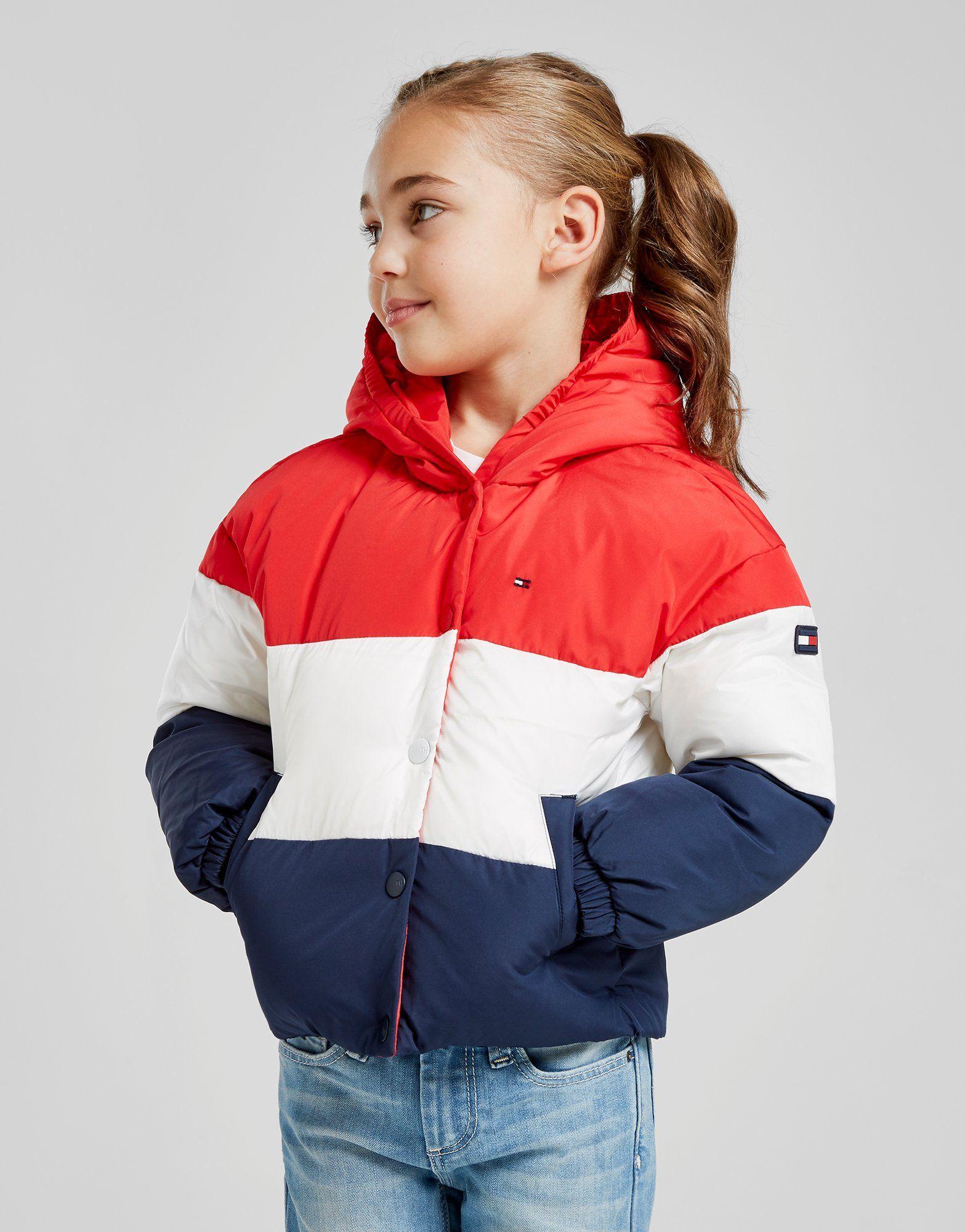 acf0c5d99e Tommy Hilfiger Girls  Colour Block Flag Padded Jacket Children