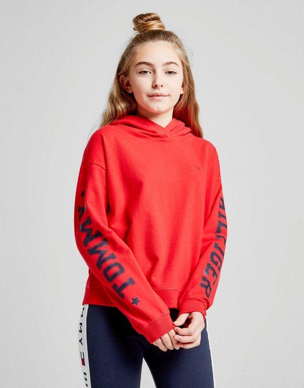 43e70034c31 Tommy Hilfiger Girls' Sleeve Logo Hoodie Junior | JD Sports