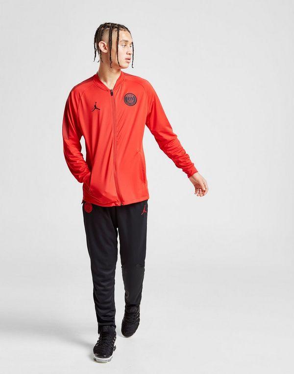 f243d23176e6 Red and Black Activewear Activewear Tops Nike Jordan Tracksuit PSG Squad  Black