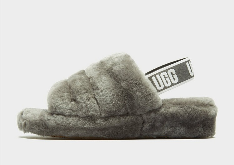 UGG Claquettes Fluff Yeah Logo Femme