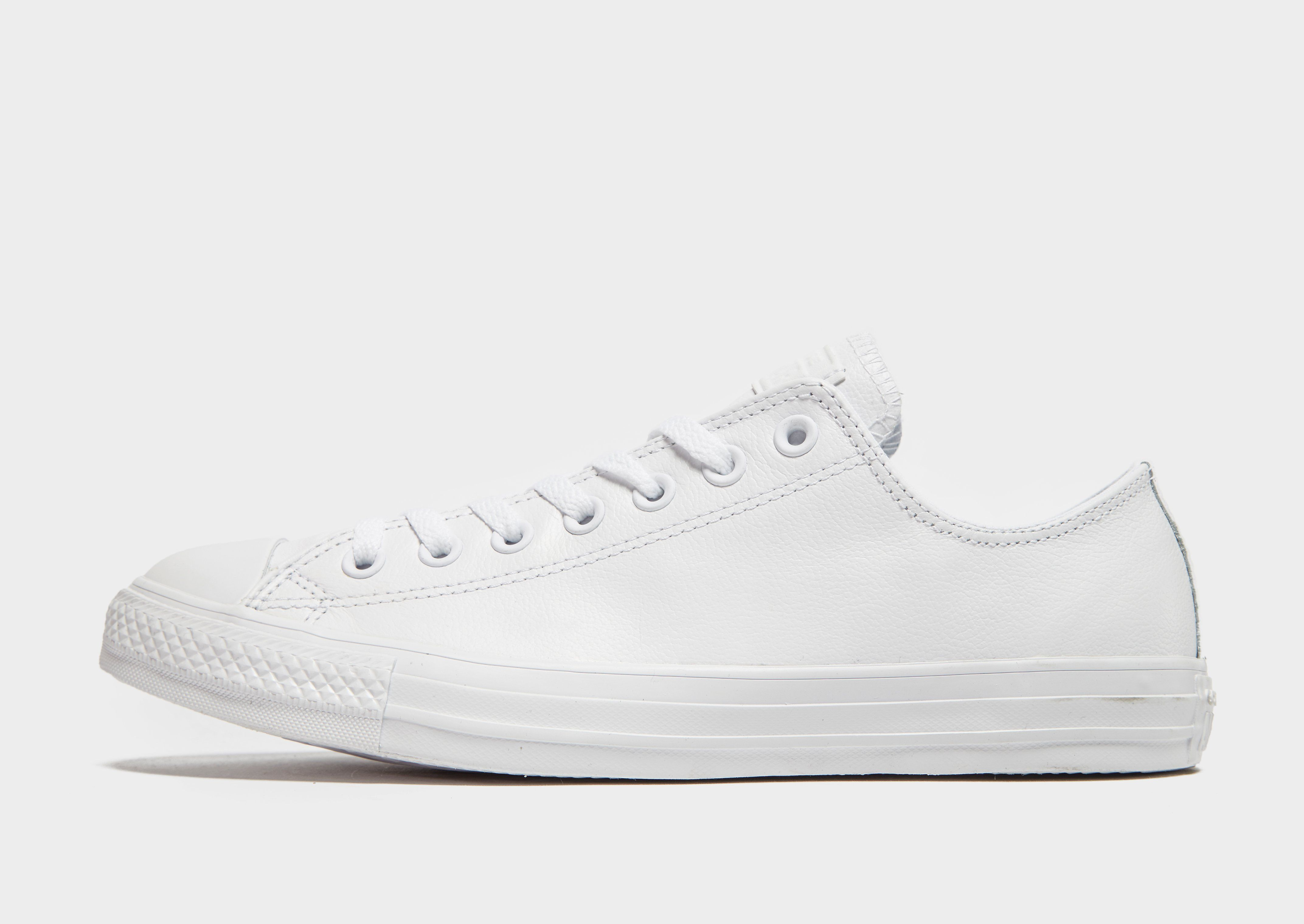 2white leather converse