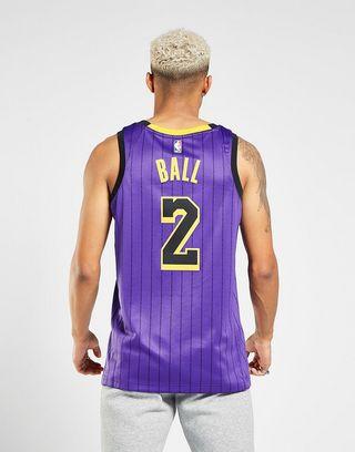 buy popular 935f7 c3e10 Nike NBA Los Angeles Lakers Ball #2 City Jersey | JD Sports