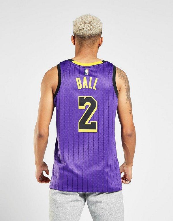 d9a26eccb7282 NIKE Lonzo Ball City Edition Swingman (Los Angeles Lakers) Men's Nike NBA  Connected Jersey
