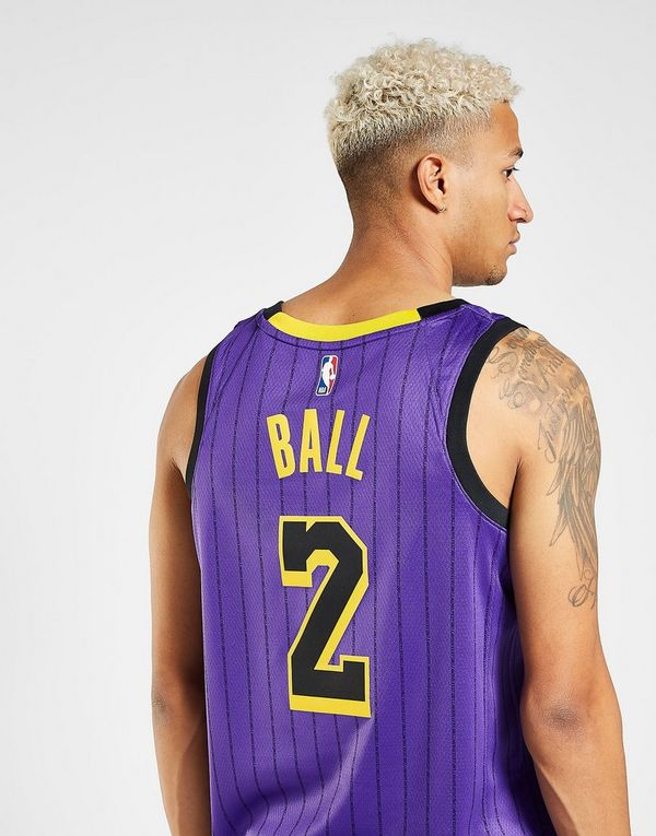 22a7e52a7 NIKE Lonzo Ball City Edition Swingman (Los Angeles Lakers) Men s Nike NBA  Connected Jersey