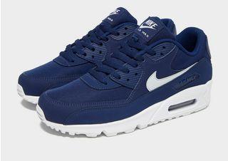 Køb Nike Air Max 90 Essential til Herre i Hvid,Blå | SPORTMASTER