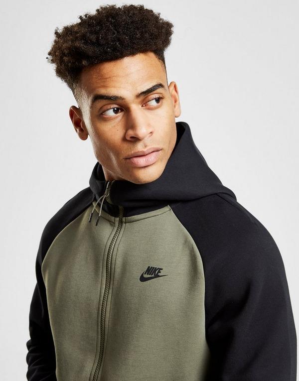 Køb Nike Tech Fleece Windrunner Hoodie Herre i Grøn | JD Sports
