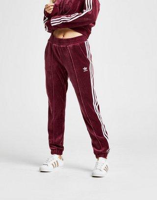 adidas Originals 3 Stripes Velvet Track Pants Women's | JD