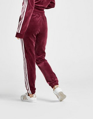 adidas Originals 3 Stripes Velvet Track Pants Women's | JD