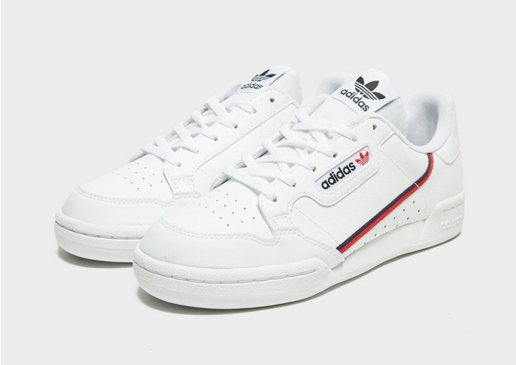 Buy White adidas Originals Continental 80 Junior | JD Sports