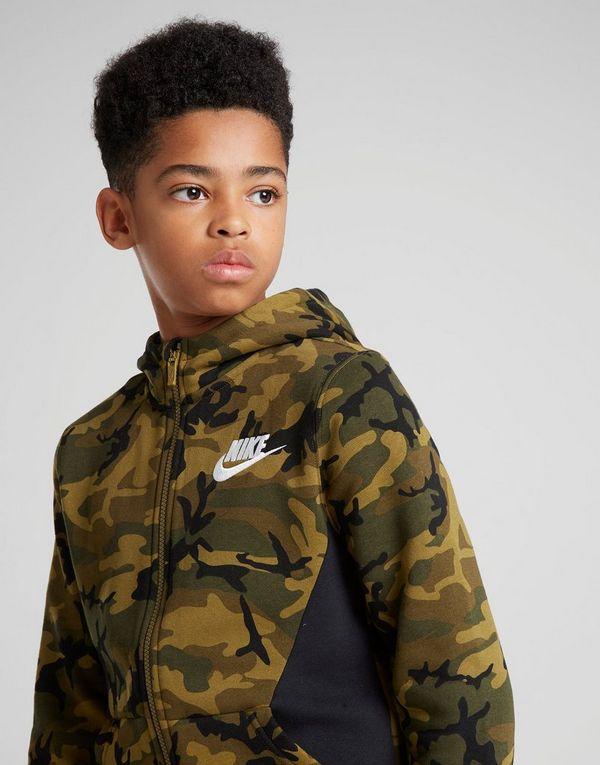 06ea3c13e6b5a Nike Camo Fleece Hoodie Junior | JD Sports