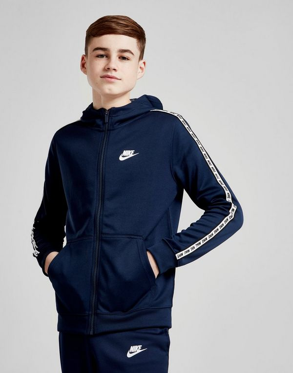fb2e5f0ec Nike Tape Poly Full Zip Hoodie Junior