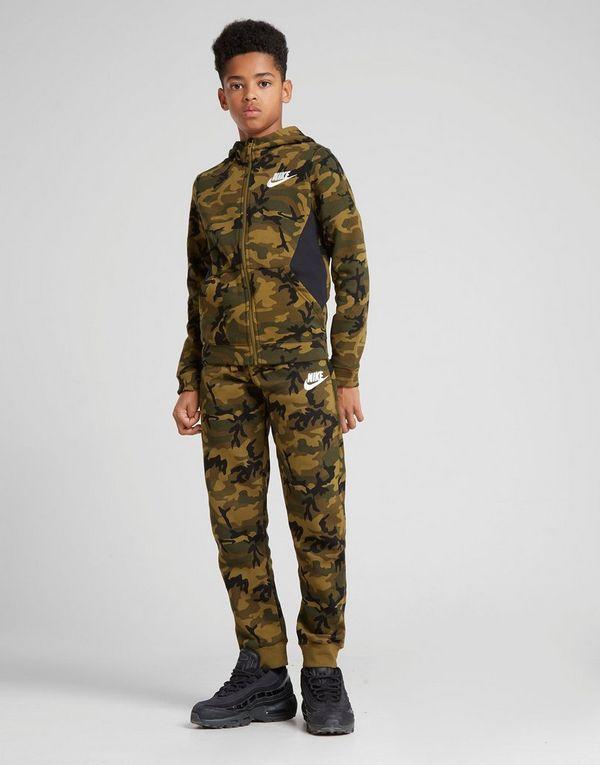 58a80265e6d9 Nike Camo Fleece Track Pants Junior