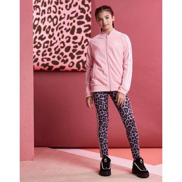 e2108e43a346 ... adidas Originals Girls  Trefoil Superstar Track Top Junior ...