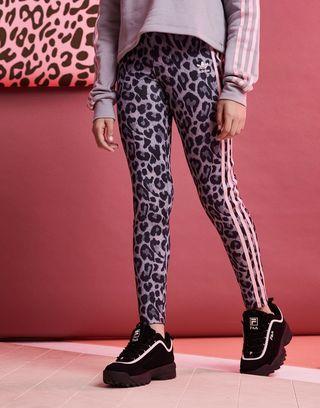 6e78ebaf0d80 adidas Originals Girls' Leopard All Over Print Leggings Junior | JD ...