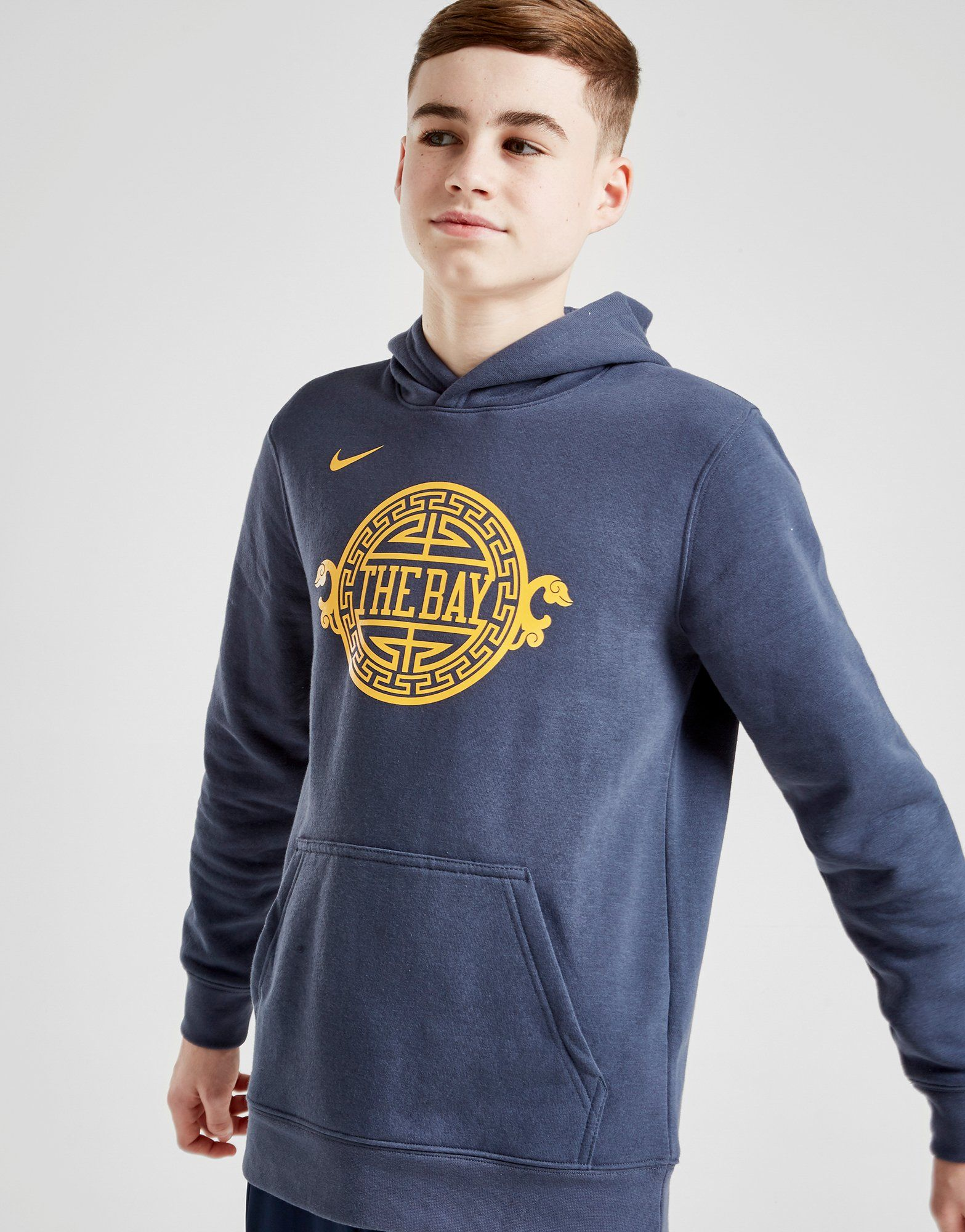 Nike NBA Golden State Warriors Overhead Hoodie Junior