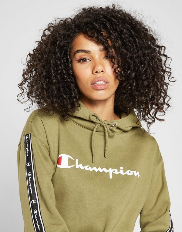 Champion Tape Crop Overhead Hoodie | JD Sports | @giftryapp