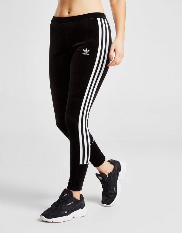 4b0d13d42f1 adidas Originals 3-Stripes Velvet Leggings | JD Sports