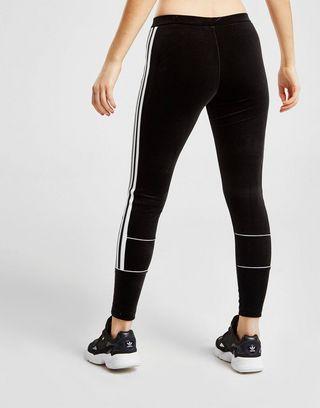 adidas Originals 3-Stripes Velvet Leggings Dames   JD Sports