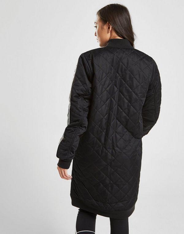 adidas Originals 3 Stripes Long Line Bomber Jacket | JD Sports