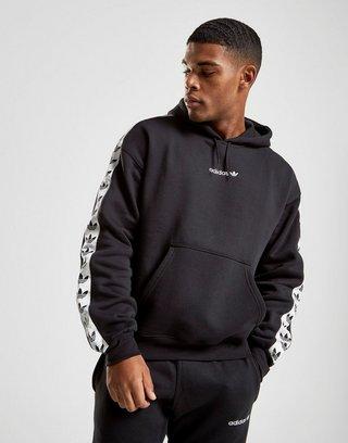 Adidas Originals Gray Mens Tape Overhead Hoodie Grey for men