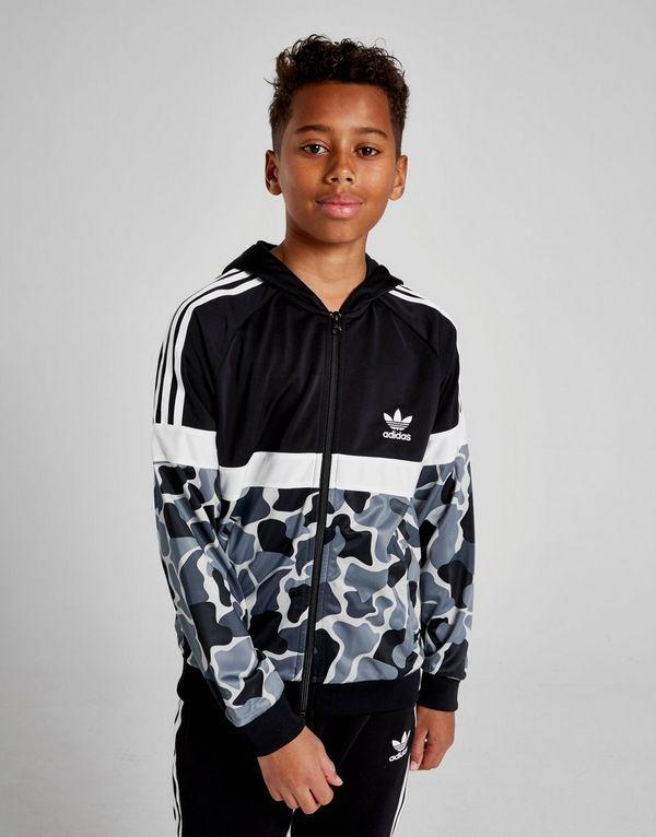 c783463b0c8f adidas Originals Itasca Camo Poly Full Zip Hoodie Junior