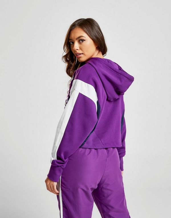 2537a512bb55bb adidas Originals 90 s Colour Block Crop Hoodie
