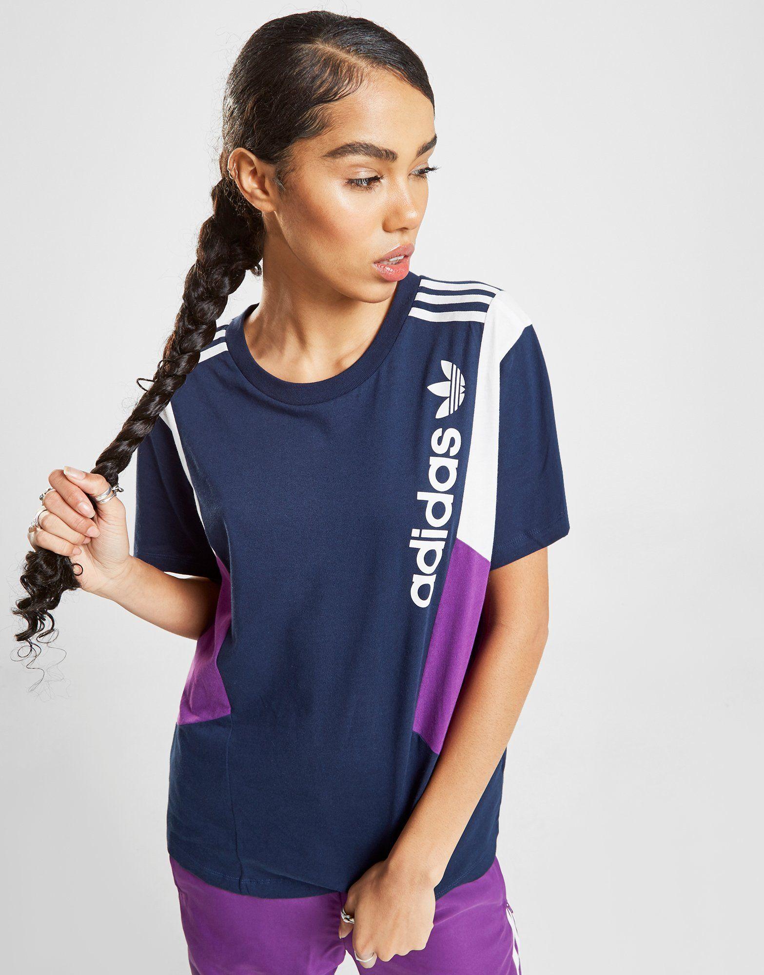 72b6665a9335 adidas Originals 90 s Colour Block Boyfriend T-Shirt